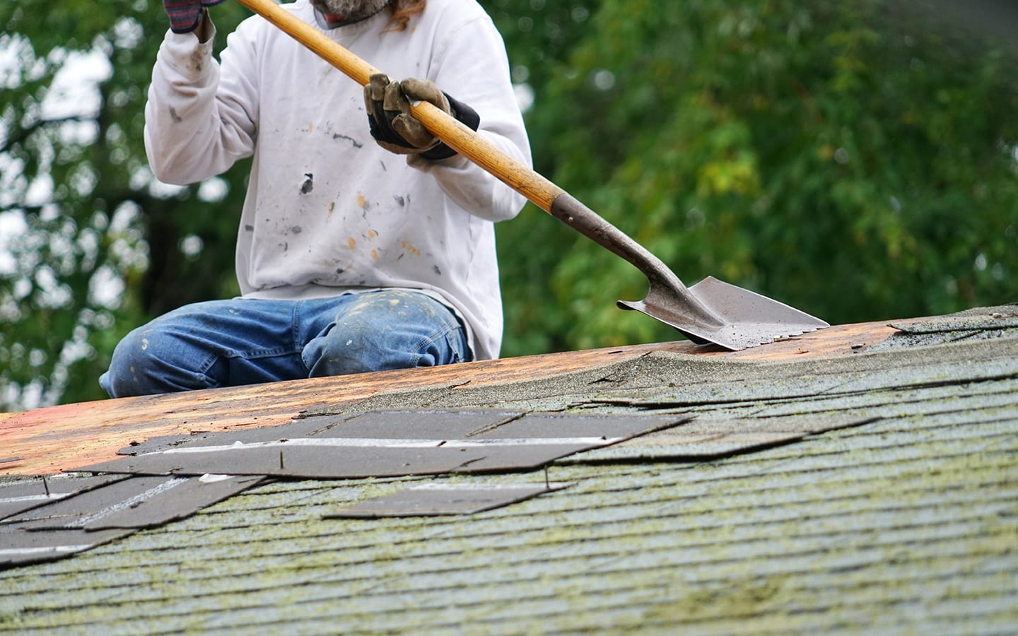 roofing tear off person